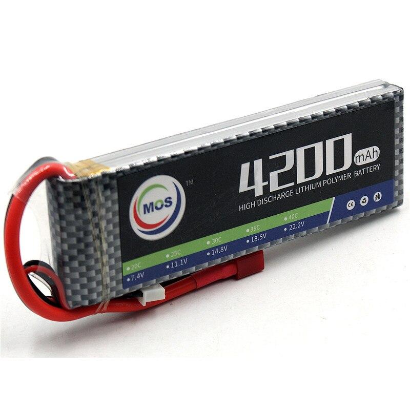 MOS 2 S RC LiPo Batterie 7.4 V 4200 mah 35C Batteries pour RC Avion Quadcopter Lithium-Polymère Batteria 2 S Livraison gratuite