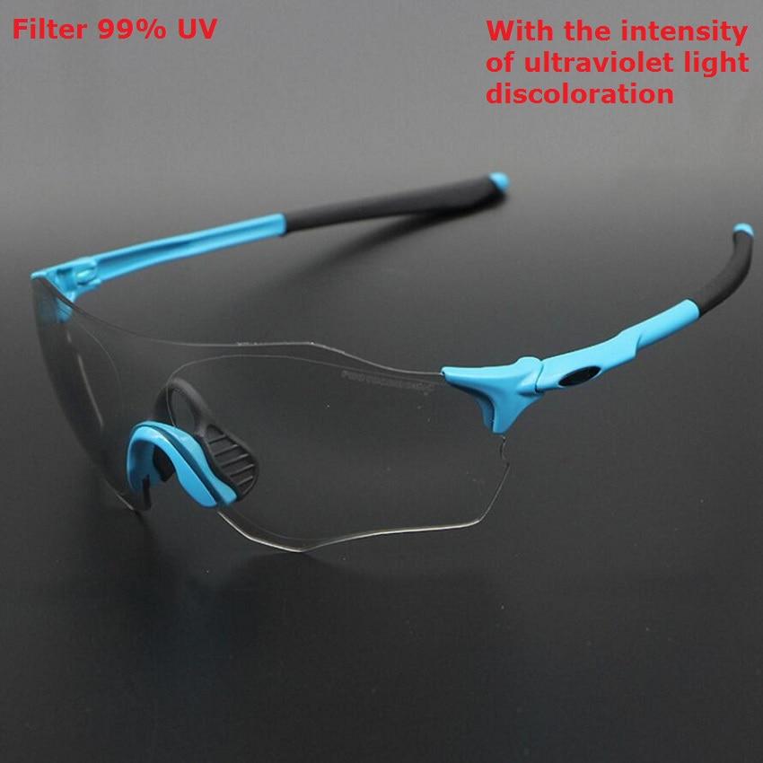 Cycling glasses photochromic 2019 road racing bike sunglasses MTB sport running riding fishing goggles bicycle eyewear men women in Cycling Eyewear from Sports Entertainment