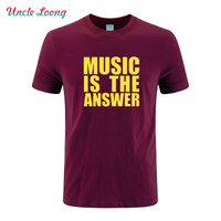 Music Is The Answer Printing Funny Fashion T Shirt New Mens Tee Dance Rave T Shirt