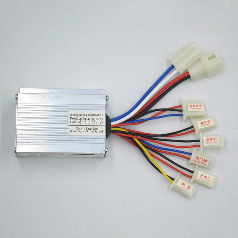 24V 250W 350W 500W Brushed Controller  Controller For E-bike Scooter Electrice Bike Bicycle Controller Electrice Scooter