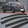 For Hyundai Tucson 2016+ Window Wind Deflector Visor Rain/Sun Guard Vent