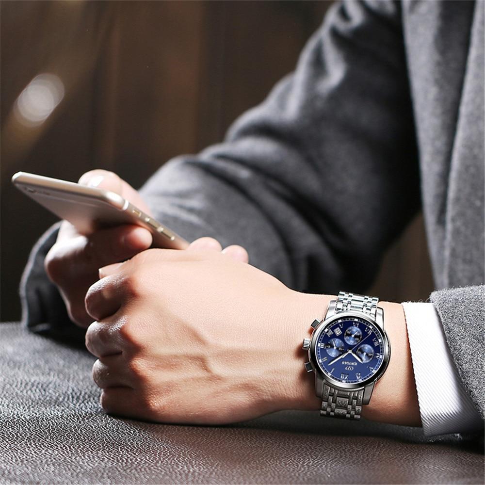 2017 Kinyued Beroemde Merk luxe Multifunctionele rvs Band - Herenhorloges - Foto 6