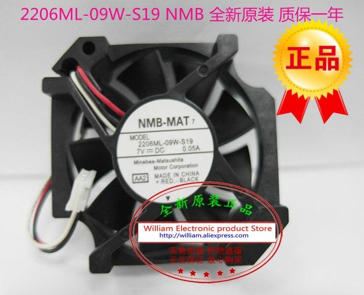 New Original NMB 2206ML 09W S19 7V 0 05A 5017 5 cm font b server b