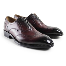 2017 Hot Italy Flat Vintage Retro Custom Mens Oxford Shoes Formal Dress Wedding Party Business Real Genuine Leather Original