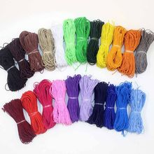 0.8mm 1.2mm Diameter Elastic Stretch Cord Colorful Cotton Wrapped Rubber Beading Cord Stretch String for DIY Jewelry Making