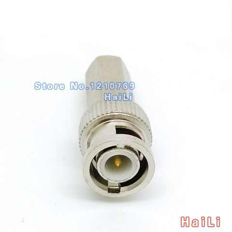 5pcs Twist on BNC Male RG59 Connector for Coax Cable Connector Adapter F/M CCTV cameras Accessories