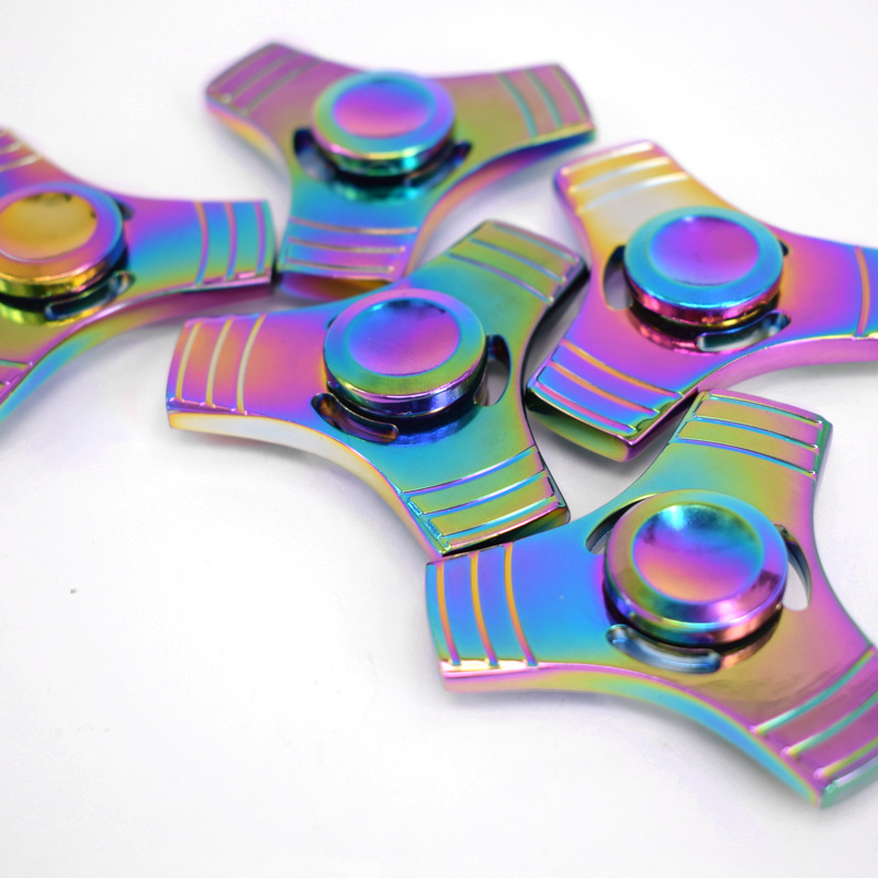Colorful Alloy Metal Fidget Spinner Triangle EDC Finger Hand Spinner for Autism/ADHD Anxiety Stress Relief Focus Toys