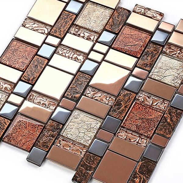 mosaico de cermica azulejo de la cocina de diseo marrn matel pared de la cocina materiales
