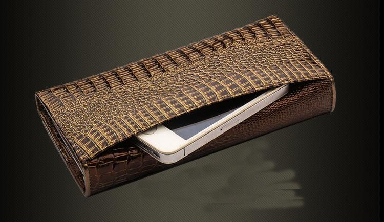 de couro feminina bolsa longo Composição : Genuine Leather