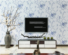 beibehang New Chinese non-woven 3d wallpaper classical ink painting blue and white living room porch background tapety