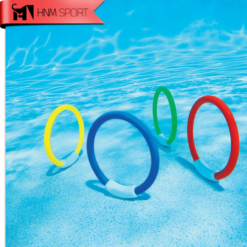 US $6.58 50% OFF 4PCS/Lot Dive Ring Swimming Pool Accessory Toy Swimming  Aid for Children Water Play Sport Diving Beach Summer Toy Kids Pool Fun-in  ...