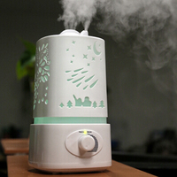 Free Shipping Aromatherapy Air Humidifier Fogger LED Night Light With Carve Aroma Diffuser Mist Maker Aromatherapy