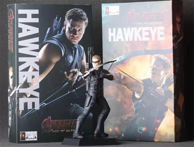 Crazy Toys Avengers Age of Ultron Hawkeye Brinquedos PVC Action Figure Juguetes Model Doll Kids Toys Figurine 18cm neca assassins creed 3 connor the hunter figurine classic game pvc action figures juguetes doll kids hot toys for children men