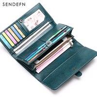 Quality Clutch Womens Purse Casual Wallet Button Wallet Women Large Capacity Purse Women Wallets Vintage Women