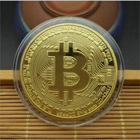 100pcs 40mm Bitcoin Collectible Souvenir BTC Coin Medal Physical Bitcoins Home Decorations Gold Silver Copper Coin Collections