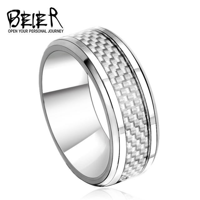 New 2017 Royal Men S Fashion Wedding Ring Stainless Steel High Quality Jewelry Br R004