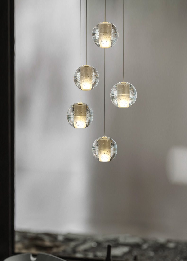 Modern simple creative glass pendant light project lighting fixtures hanging led lights fixtures for home nordic rh loft style