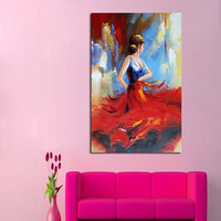 Hand Painted Modern Abstract Oil Painting Wall Art dancers Canvas painting Artwork best Gift For Living Room wall Decoration