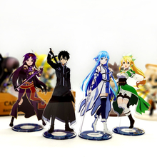 Love Thank You Sword Art Online Kirito Asuna Leafa Yuuki acrylic stand figure model double-side plate holder cake topper anime assassination classroom ansatsu kyoushitsu koro sensei acrylic stand figure model double side plate holder cake topper anime