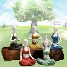 Simple modern Yoga Ornament  color sand Kung Fu Yoga ladies car accessories  home decorations tea decorations