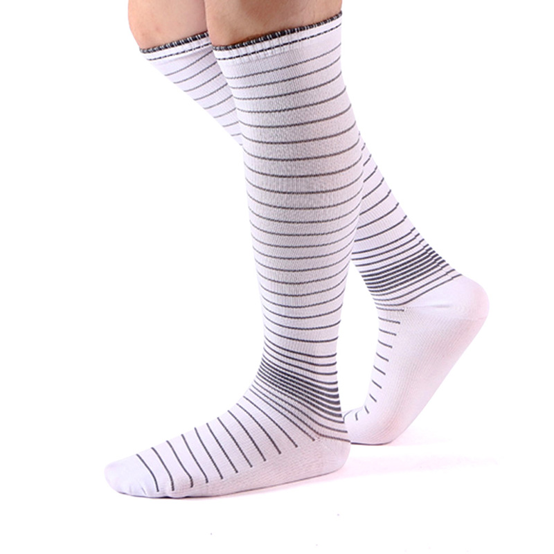 Sports Socks Stretch Compression Stocks Ankle Socks Quick Dry Muscle Knee-Stockings Football Men Socks 1 Pair High Quality Socks ...