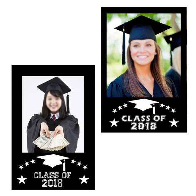 online shop class of 2018 diy paper frame photo booth props for