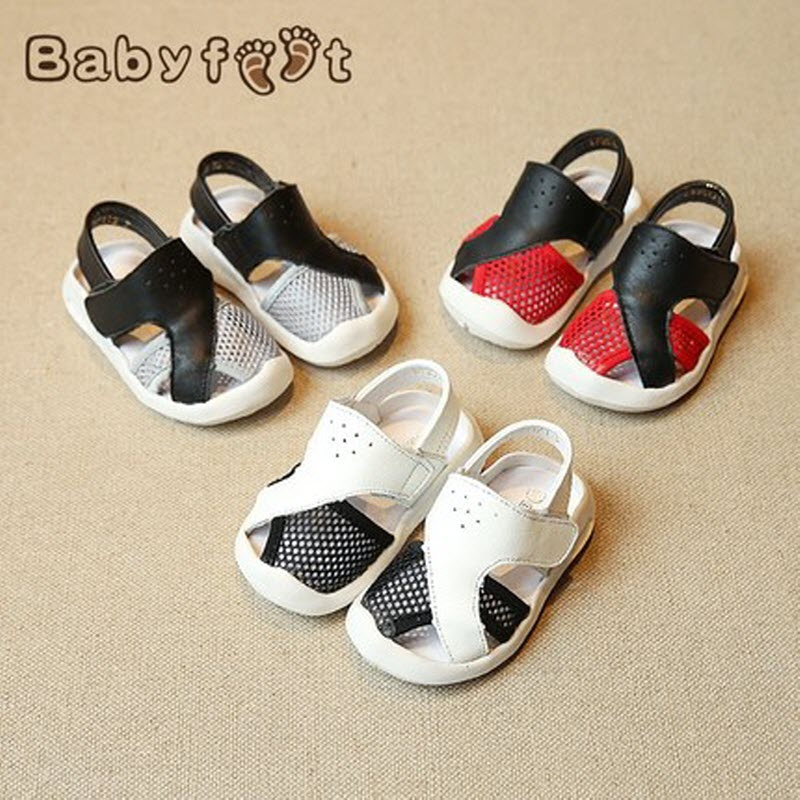 Babyfeet summer baby school shoes soft bottom baby sandals leather children's shoes boy beach shoes female 0-2 years old Toddle babyfeet summer cool toddler shoes 0 2 year old newborn baby girl