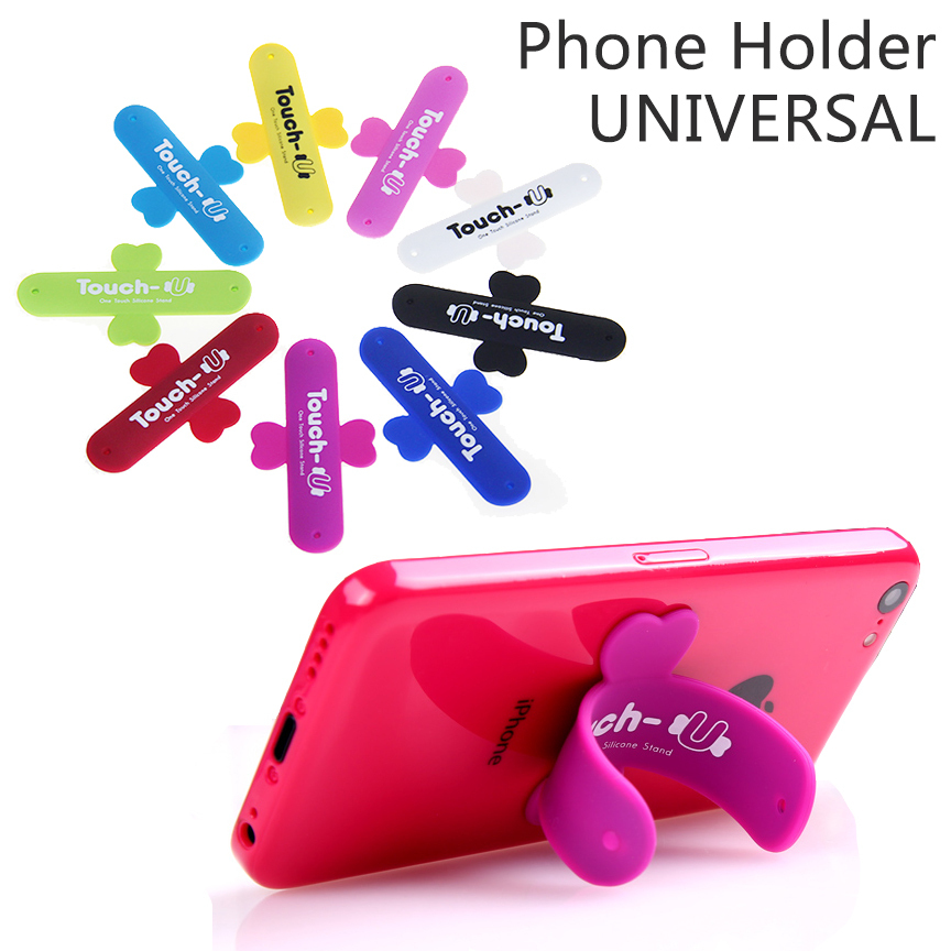 10Pcs/Lot Mini Touch U One Touch Silicone Stand Finger Rings Universal Portable Phone Holder For iPhone 6 5s 7 Samsung Tablet PC