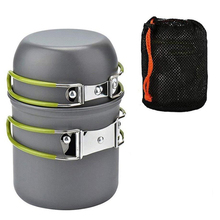 Joshock Ultralight Camping Cookware Portable outdoor Camping Pot 1-2 People Picnic Barbecue Pot Single Picnic outdoor picnic stainless steel hand bill of lading handle bento pot hiking pot camping barbecue cooking cookware picnic cookers