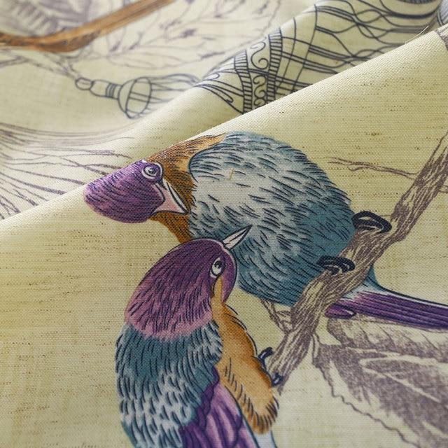 Tende oscuranti per Soggiorno Americano Rustico Decorativo Finestra Della Cucina Uccelli Stampato Camera Da Letto Tende A Pannello (A123)