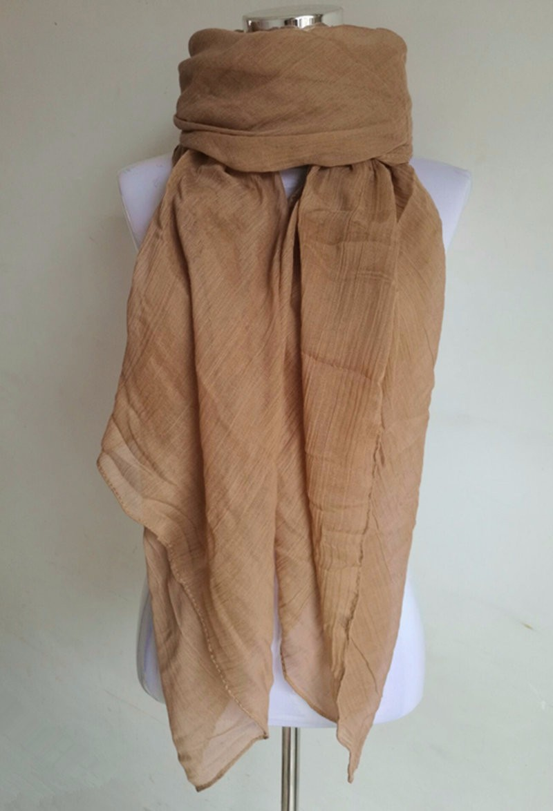 Plain Cotton Voile Scarf | Lightweight Scarves | Upto 60% Off Now