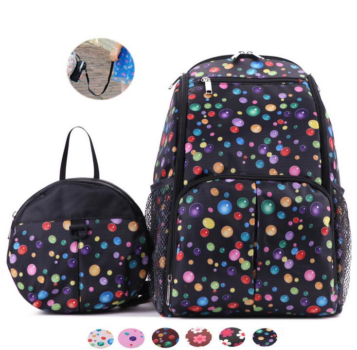 ФОТО 2 pcs/set Multifunction large capacity  Mummy backpack  and child walking package Diaper Bags Stroller Bags For Maternity Mother