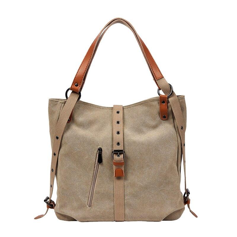 Frauen Kapazität Totes Weibliche Hobos Einzelnen Schulter Taschen Solide Vintage Multi-funktion Schulter Tasche Doppel Umwandlung