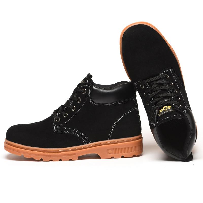 626ab6aa3f Comprar Camurça Da Vaca Sapatos De Segurança Aço Do Dedo Pé Dos ...