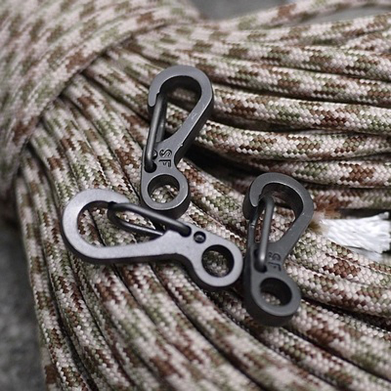 YOUGLE 10PCS/LOT Spring Clasps Carabiners Keychain Bottle Hooks Paracord Buckles For Lanyard and Sewing