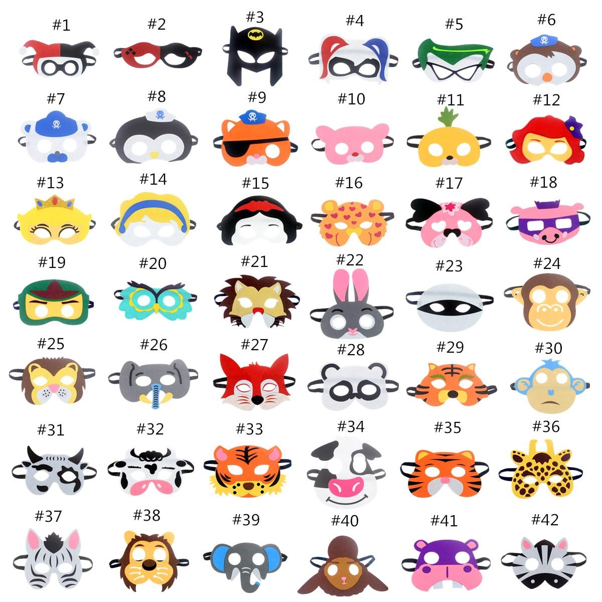 Mask Super Hero Batman Animals Face Giraffe Tiger Mask Kids Children Birthday Costume DIY Masquerade Eye Mask Cosplay Xmas New