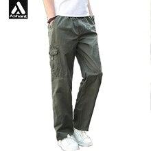 Männer Cargohose Sommer Gesamt Plus Größe XXXL 4XL 5XL 6XL Baggy Armee Grün Hose Für Arbeiter Lose Fitness Khaki Tasche Hosen