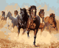 PAINTBOY Framed DIY Digital Oil Painting By Numbers Of Horses Painting Calligraphy Home Decor Wall Art