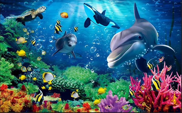 Mural trees picture more detailed picture about for Aquarium mural wallpaper
