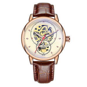 Image 2 - Relojes Hombre 2019 Thiết Kế Mới ORKINA Đồng Hồ Cơ Dây Da Tự Động/Dây Lưới Thép Không Gỉ Đồng Hồ Relogio Masculino