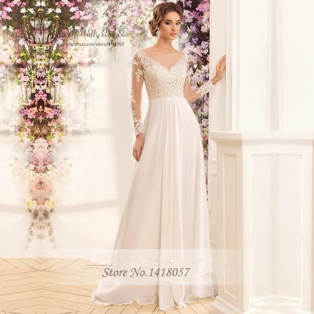 Vestidos de boda civil manga larga