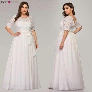 Image 3 - בתוספת גודל כחול כהה ערב שמלות אלגנטי ארוך אונליין חצי שרוול תחרה ערב מסיבת שמלות לחתונה Robe דה Soiree 2020