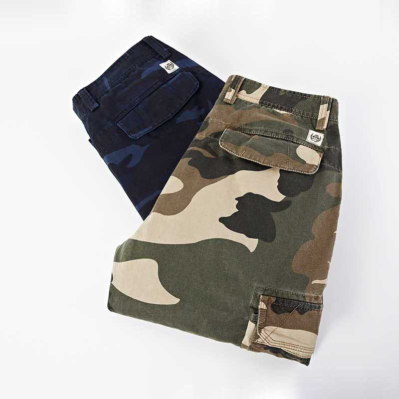 ICPANS Military Style Cargo Pants Men Many Pockets Camo Cotton Straight Camouflage Casual Pants Mens Loose Baggy Trousers Male in Cargo Pants from Men 39 s Clothing