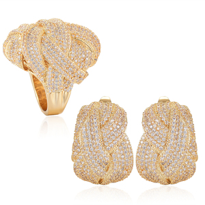 Image 5 - GODKI Newest Famous Brand Luxury Winding Cross Geometry Cubic Zironia CZ Jewelry Sets For Women Wedding Dubai Bridal Jewelry Set