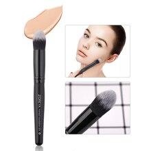 Zoreya Brand women pointed foundation makeup brushes  Kabuki Make Up Tool wooden Handle Synthetic Brush