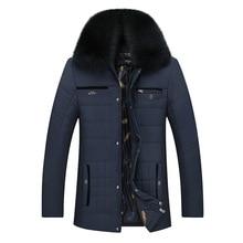 Men Winter Jackets 2017 New Thick Warm Fur Collar Coats Male Fashion Windproof Down Parkas Men's Military Windbreak Outwear 5XL