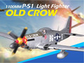 FMS 1100MM P-51D Light Fighter Old Crows World War II  Fixed-Wing RC Aircraft