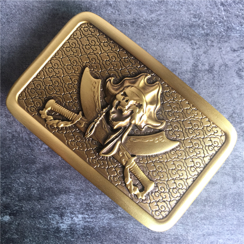 High Quality Pirate Belt Buckle For Mens Belts Luxury Brass Belt Buckle Cowboy Jeans Belt Buckle BK0092