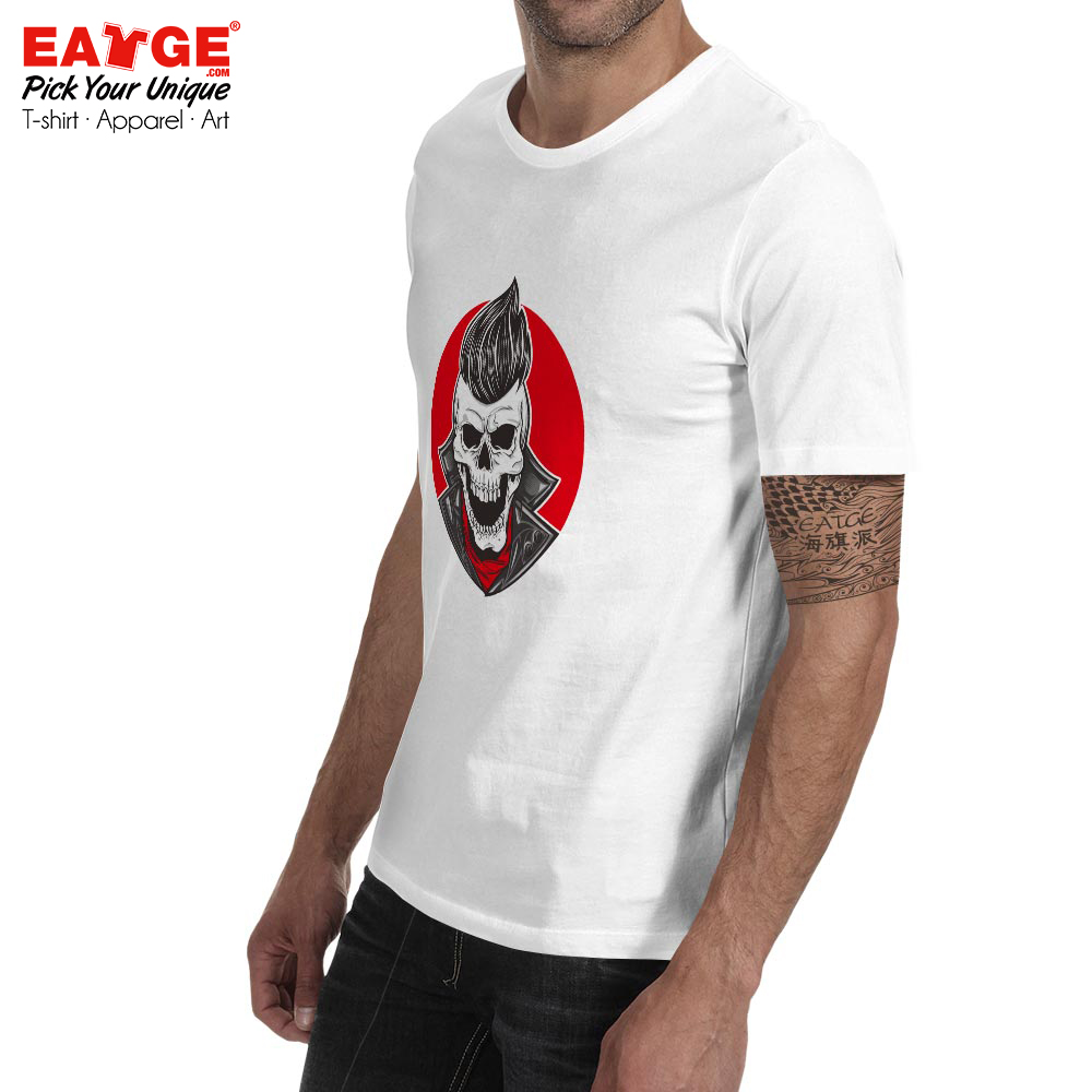 Skull With Slick Hair T Shirt Hipster Punk Style Print Skate Hip Hop T shirt Funny Design Active Unisex Men Women Gang Tee in T Shirts from Men 39 s Clothing