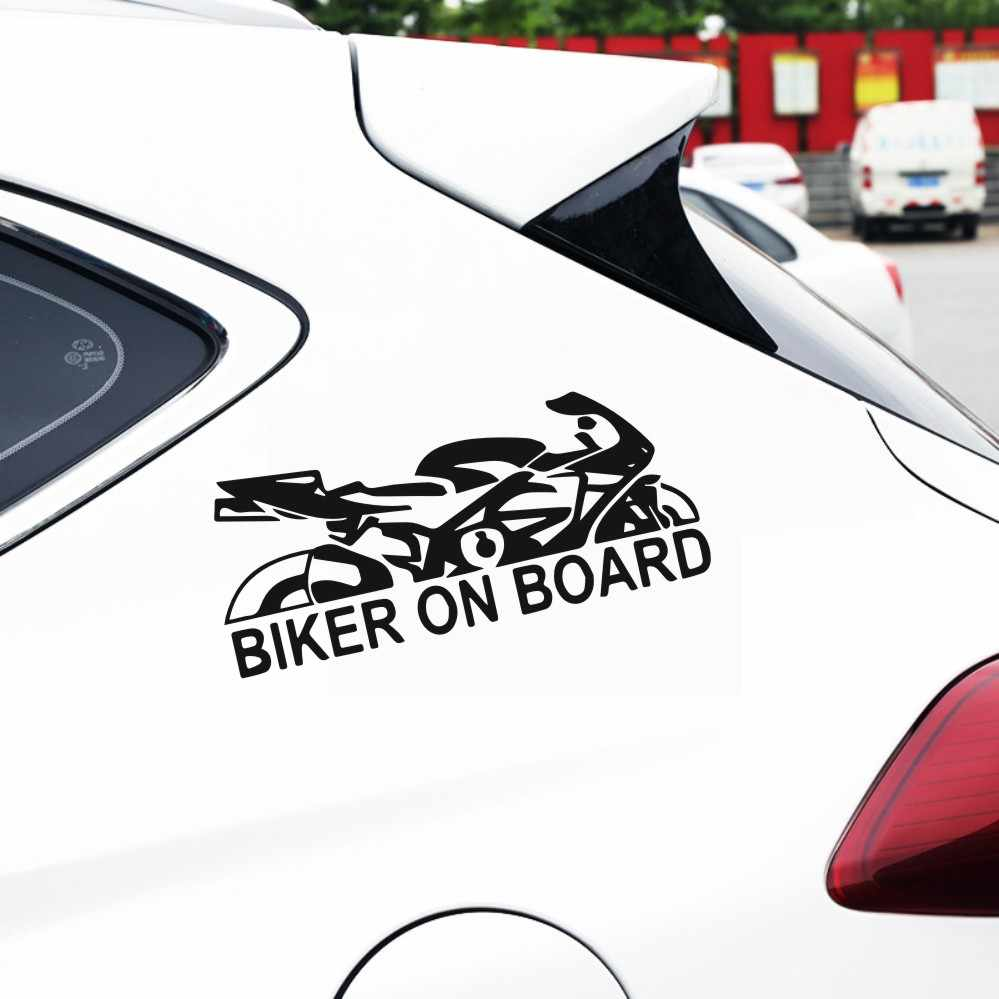 Car sticker biker on board car bumper stickers and decals car styling decoration door body wall home glass window vinyl stickers